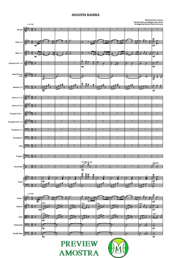 Augusta Rainha   Orquestra Sinfônica   INSTRUMENTAL   Partitura Completa