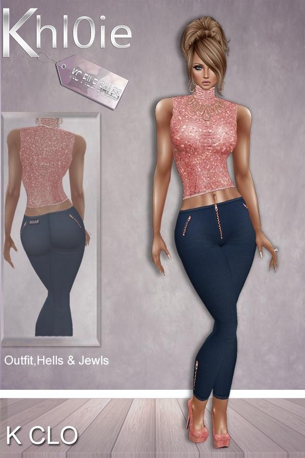 K Clo bundle ( outfit, heels & access)