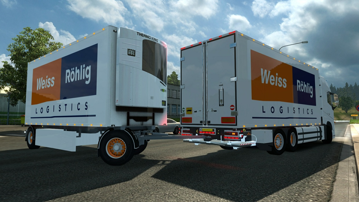 ETS2 Volvo FH Tandem Weiss Logistics Combo v 1.0