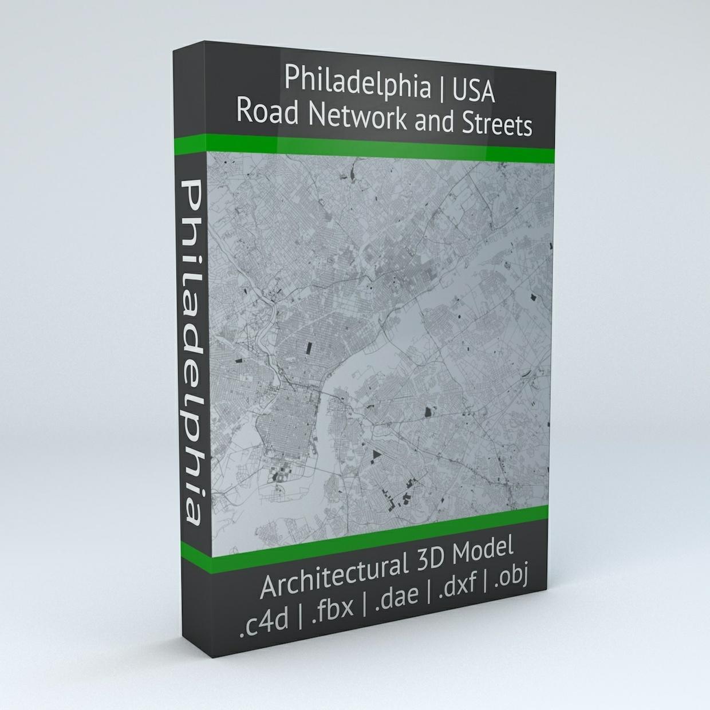 Philadelphia Road Network Architectural 3D Model