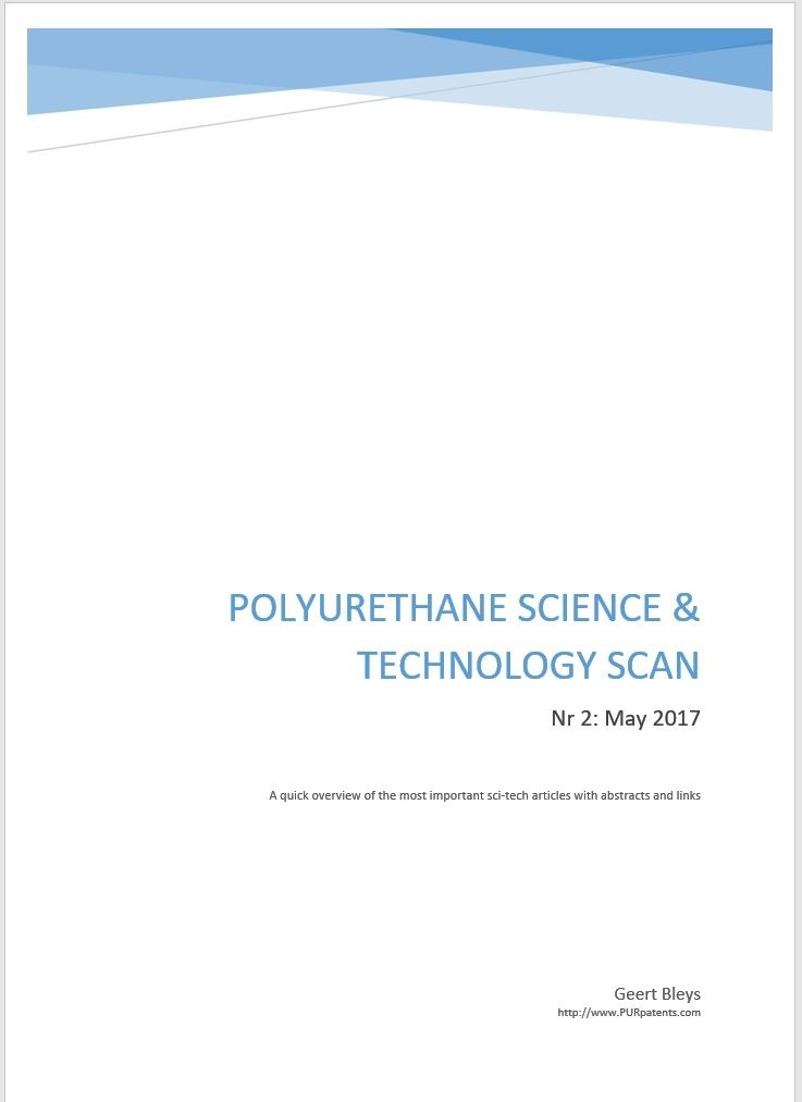 Polyurethane Science & Technology scan - Nr2 : May 2017