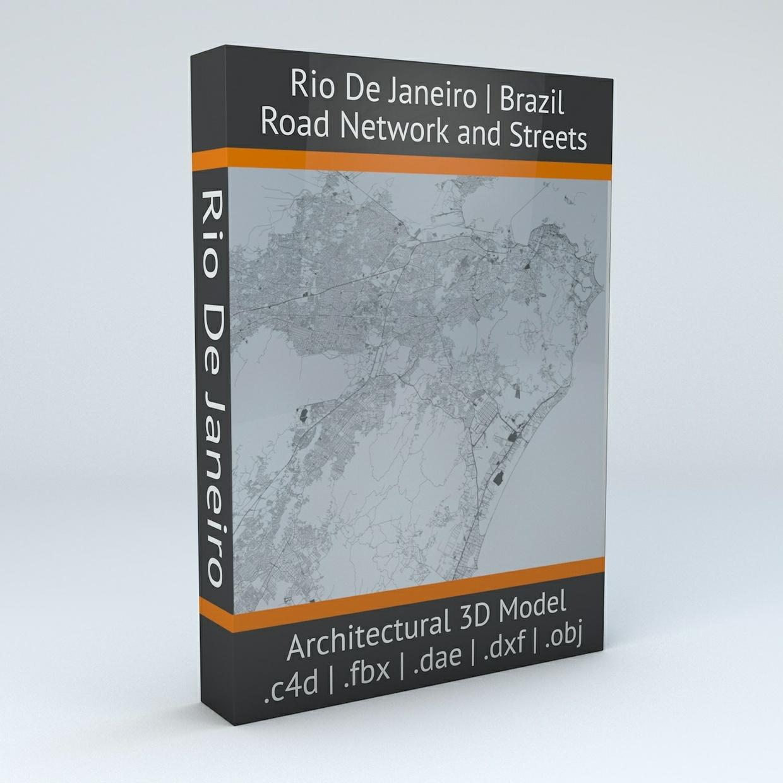 Rio De Janeiro Road Network Architectural 3D Model