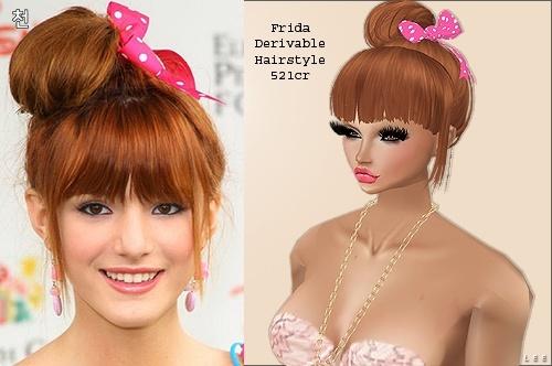 IMVU Mesh - Hair - Frida
