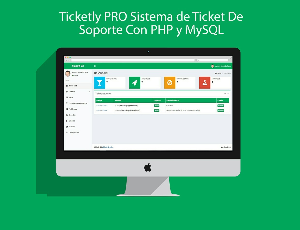 Ticketly PRO Sistema de Ticket De Soporte Con PHP y MySQL