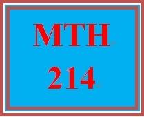 MTH 214 Week 5 Study Plan