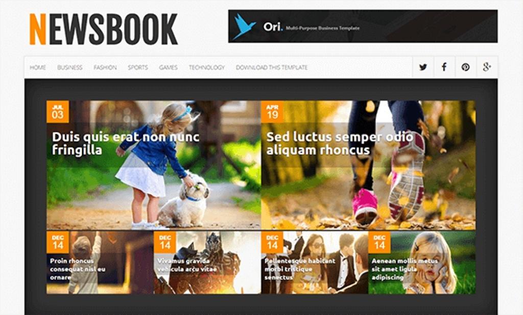 NewsBook Blogger Template Premium Version