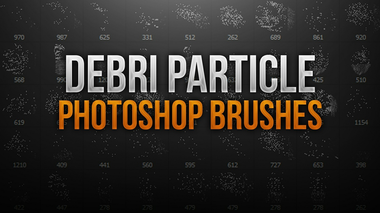 Debri Particle Photoshop Brush Pack
