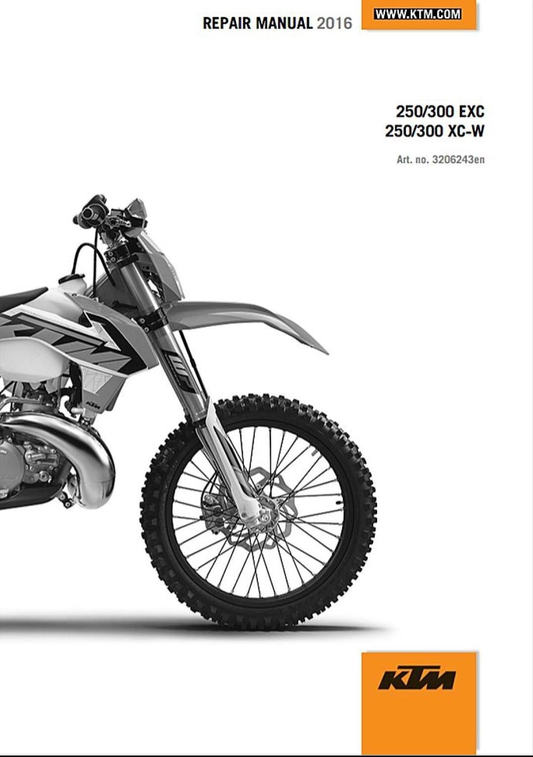 ktm 250 300 exc xc-w service repair manual