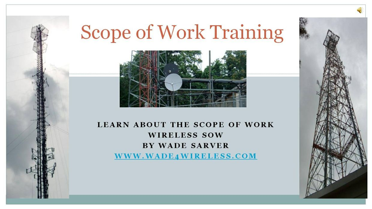 Wireless Scope of Work Training Video