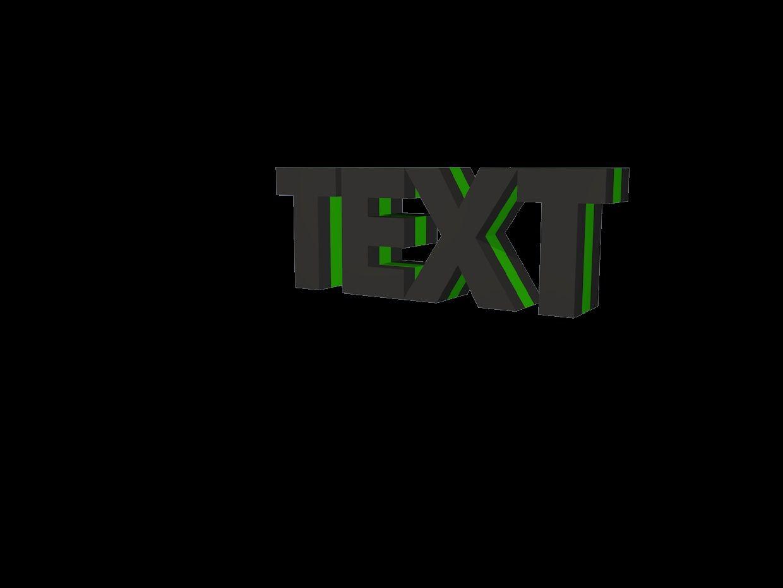 || BASIC || 3D Text