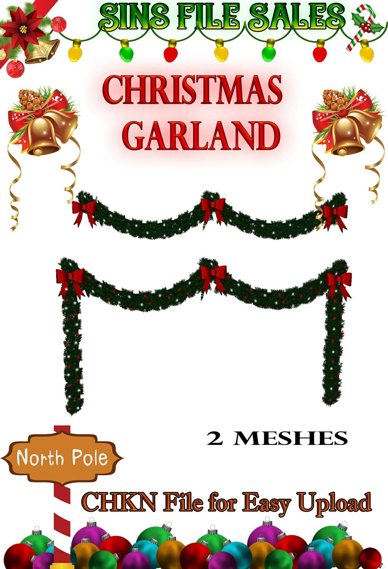 Christmas Garland 2 Meshes * CHKN Files