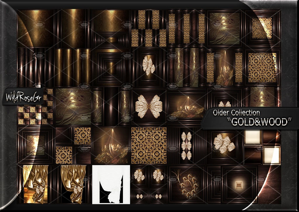 """OLDER COLLECTION """" GOLD&WOOD """""""