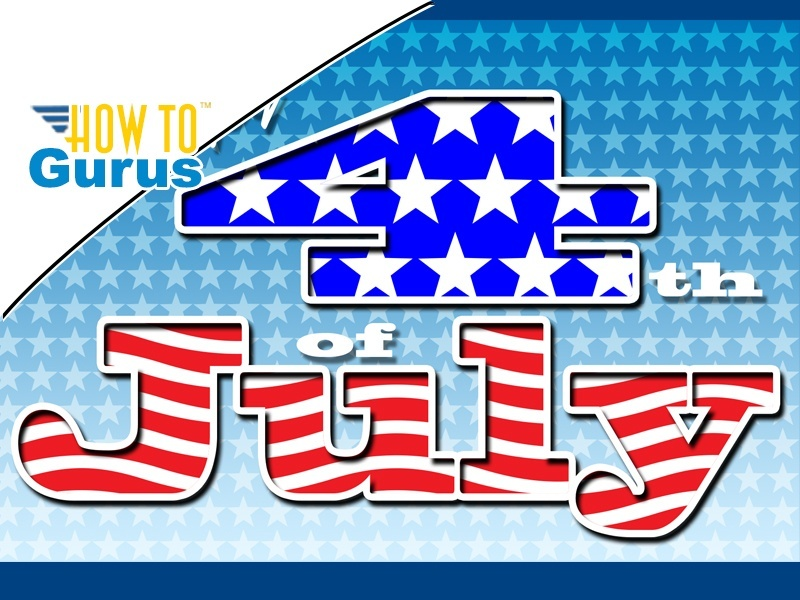 Photoshop Elements Outline Text: 4th of July Card with outlined text effects 15 14 13 12 11 Tutorial