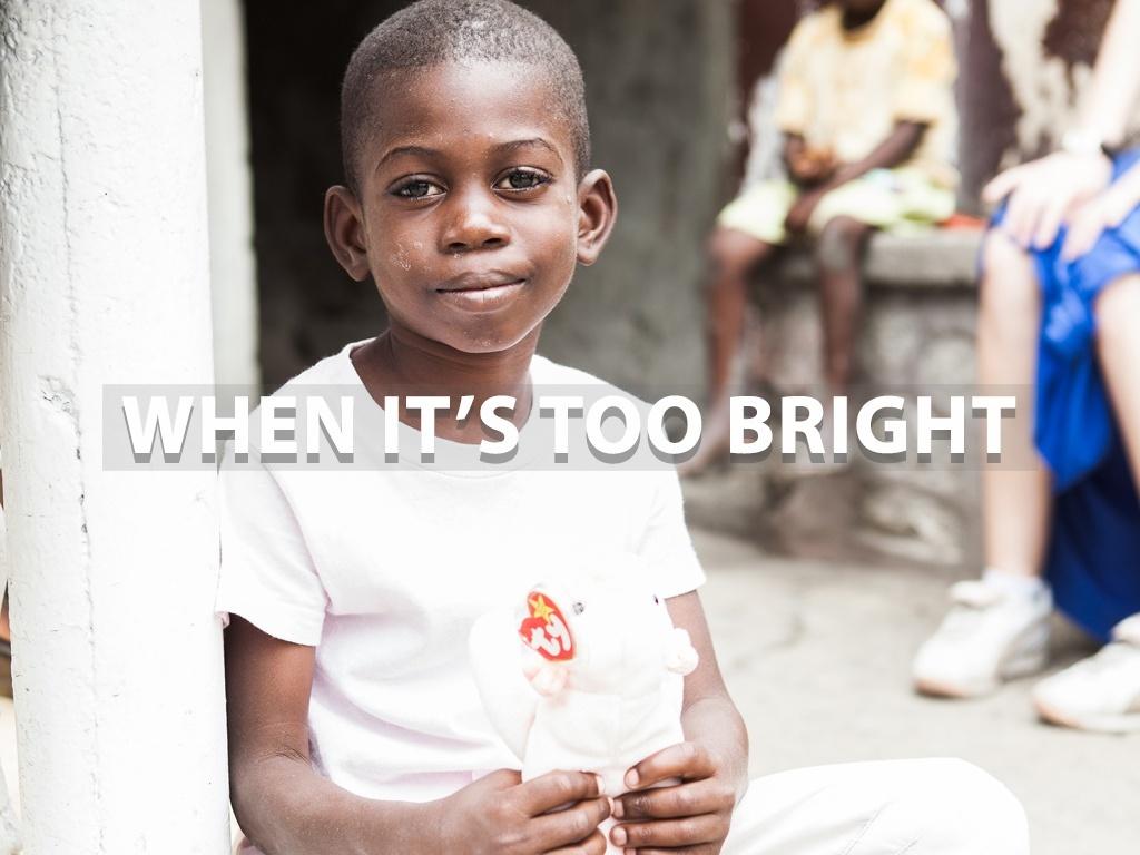 """When It's Too Bright"" - Lightroom Preset"