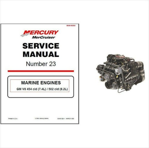 1998-2001 MerCruiser # 23 GM V-8 454 & 502 CID (Gen VI & L-29) Service Manual
