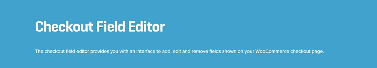 WooCommerce Checkout Field Editor 1.4.10 Extension