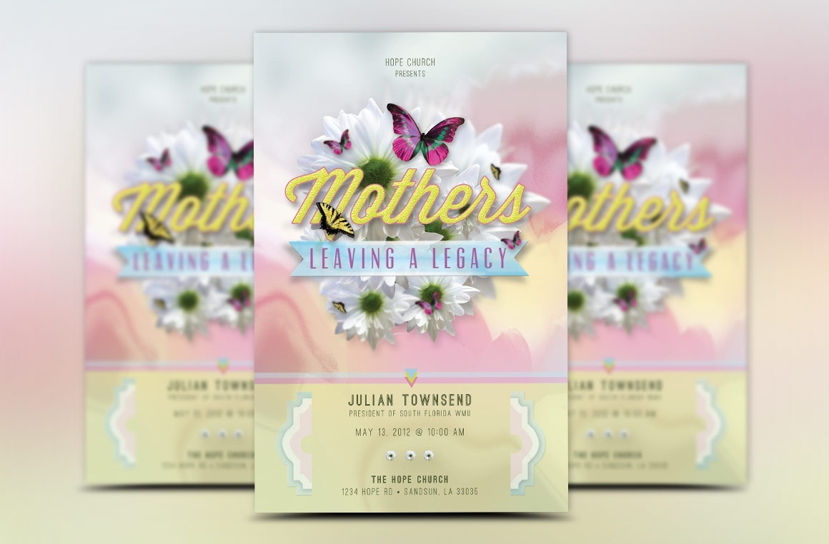 Mothers Legacy Church Flyer Template