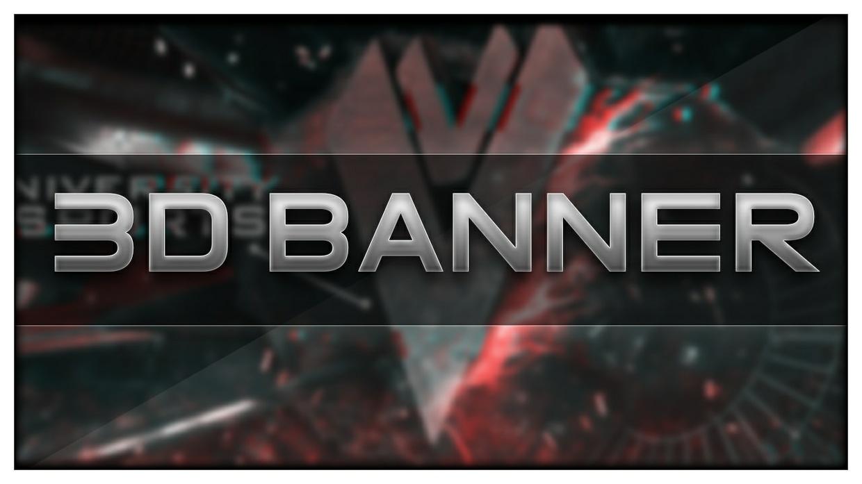3D BANNER for YouTube