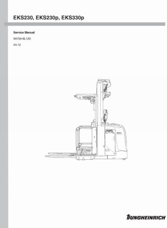 Jungheinrich Order Picker EKS 230, EKS 230P, EKS 330P Workshop Service Manual