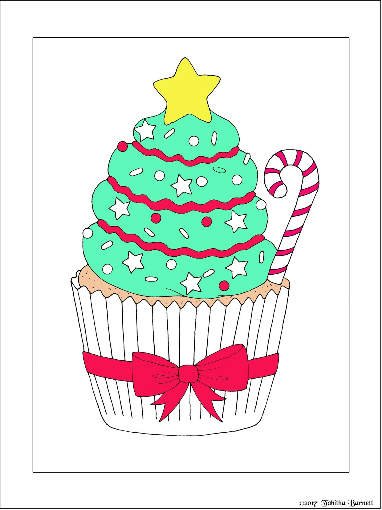 Christmas Sweets Coloring Pack (4 pg. PDF)