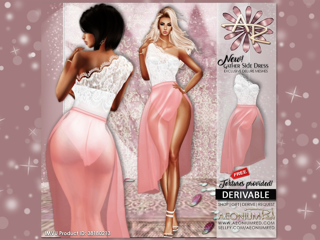 Imvu Freebie: Gather Side Lace Dress