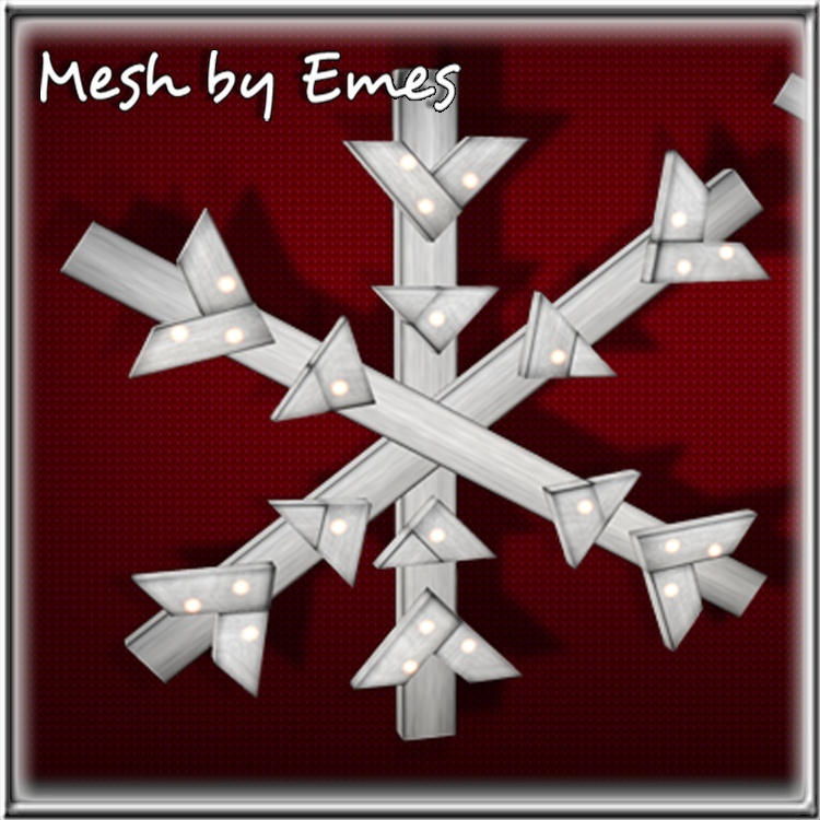 MESH-Wooden Snowflake Lights