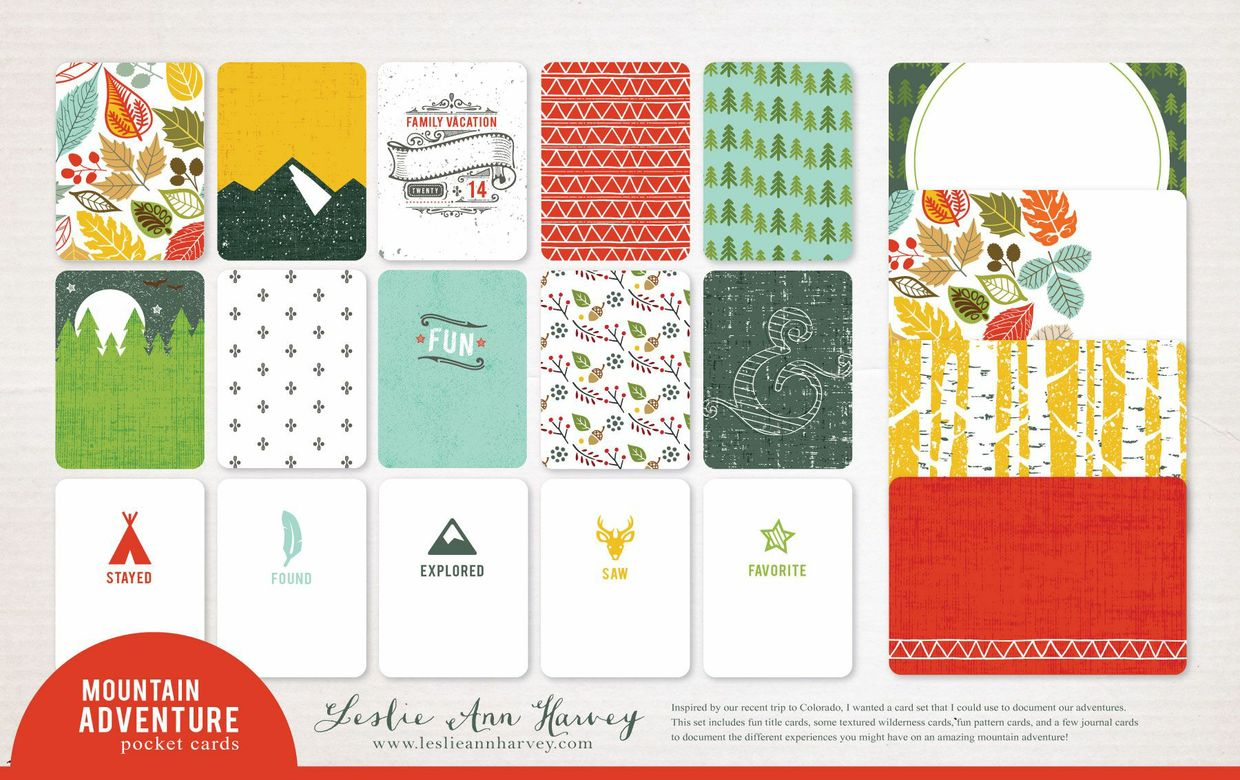 Mountain Adventure - Pocket Cards