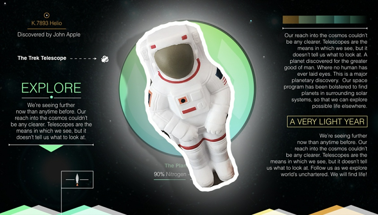 A Space Exploration Keynote and PowerPoint Theme