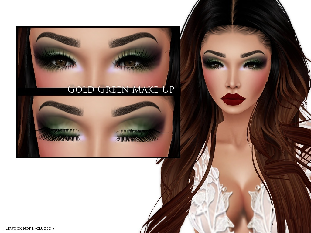 IMVU Texture - Skins by Lee - Make-up Gold Green
