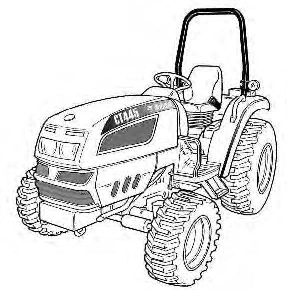 Bobcat CT440, CT445, CT450 Compact Tractor Service Repair Manual Download