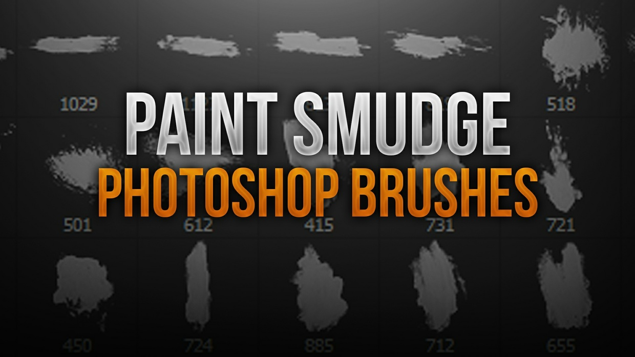 Paint Smudge Photoshop Brush Pack