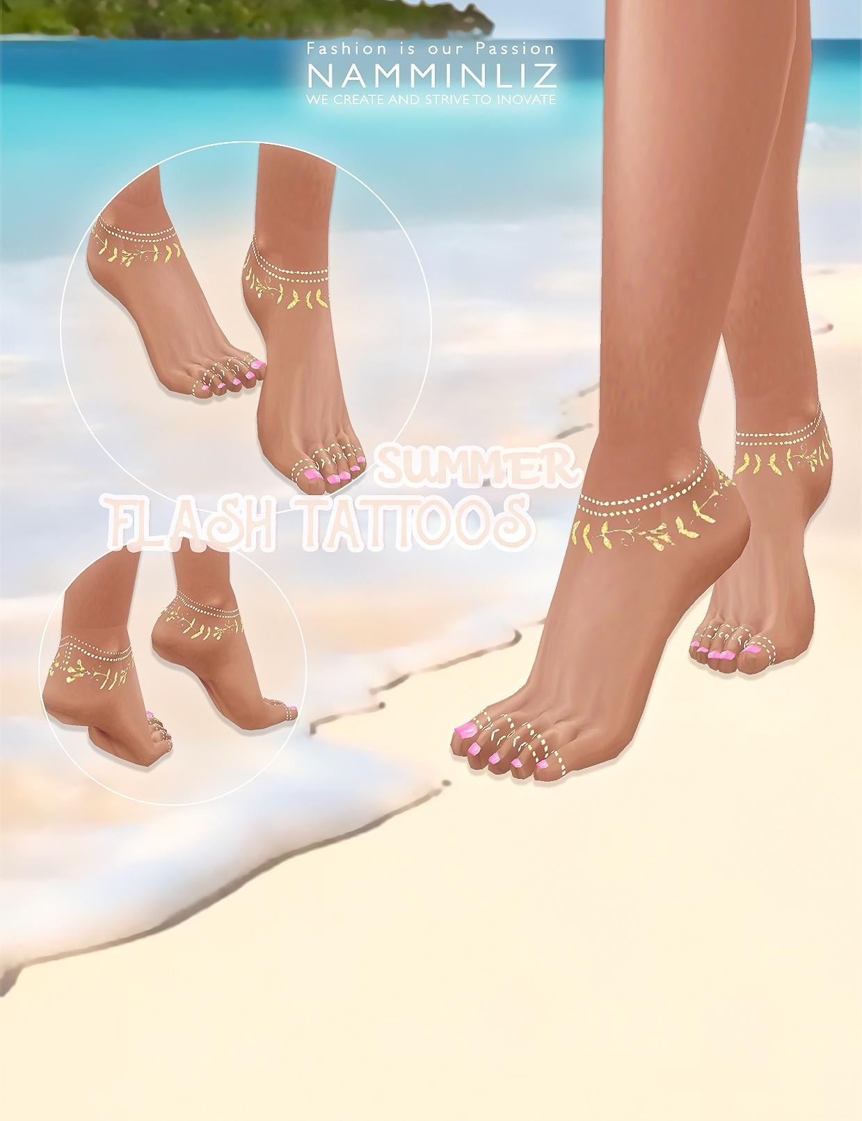 Summer Flash Tattoos imvu Textures 4*.PNG  4 *.CHKN