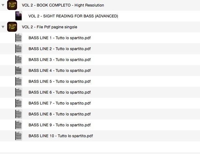 VOL 2 - SIGHT READING FOR BASS (ADVANCED) - ONLY PDF FORMAT