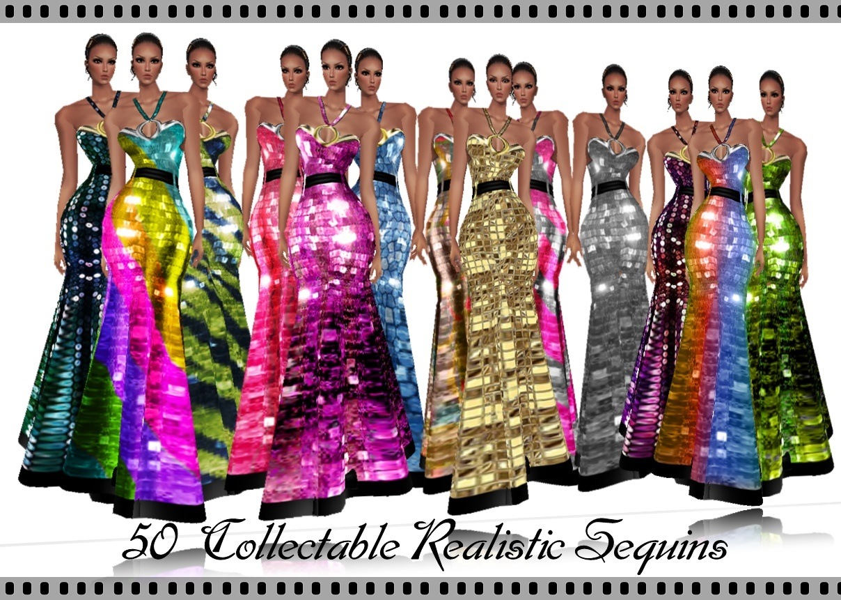 50 Collectable Realistic Sequins