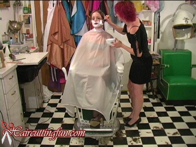 Karissah's Chelsea Haircut and Face Shave - VOD Digital Video on Demand