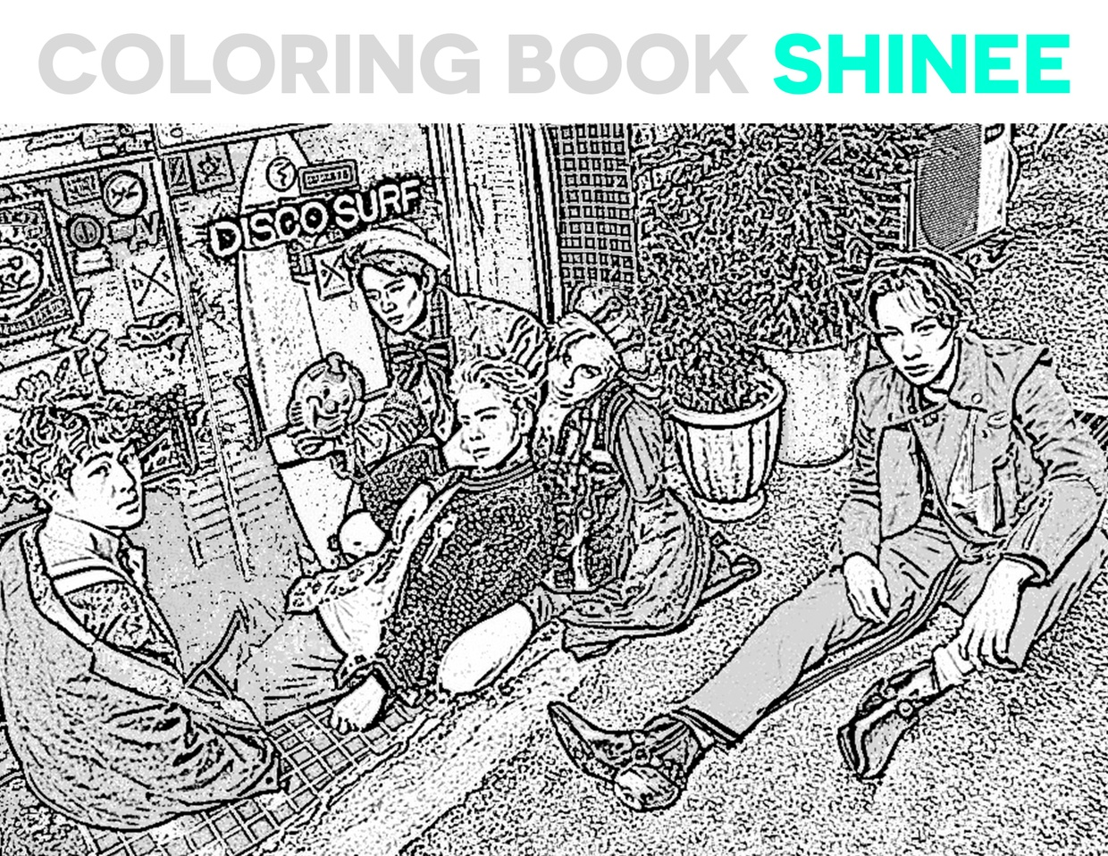 Coloring Book For Adults Ll SHINee Kpop