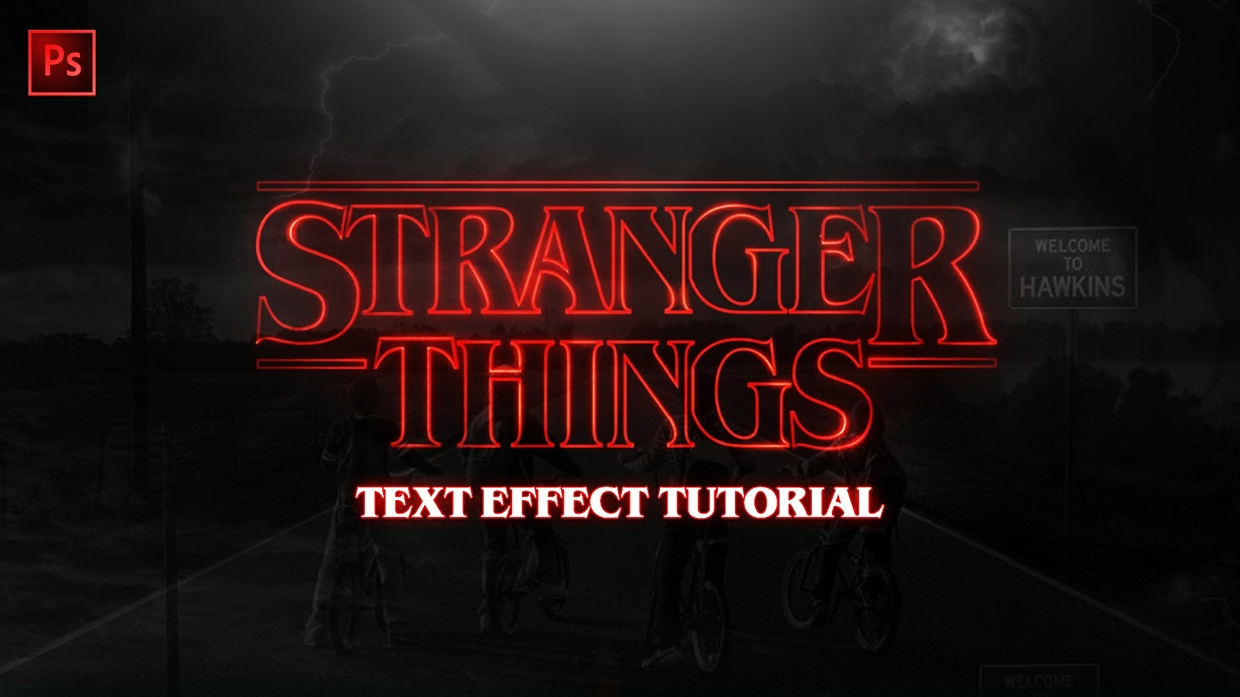 """FREE """"Stranger Things"""" Layer Style"""