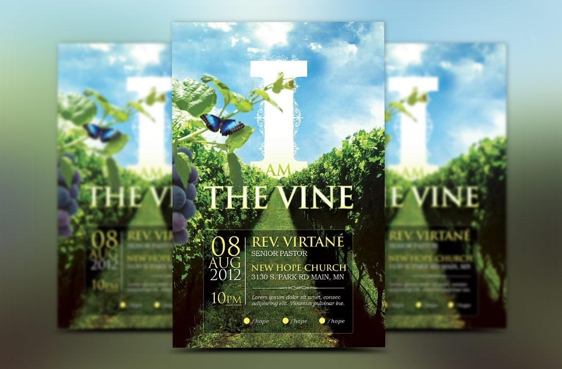 Vine Church Flyer Template