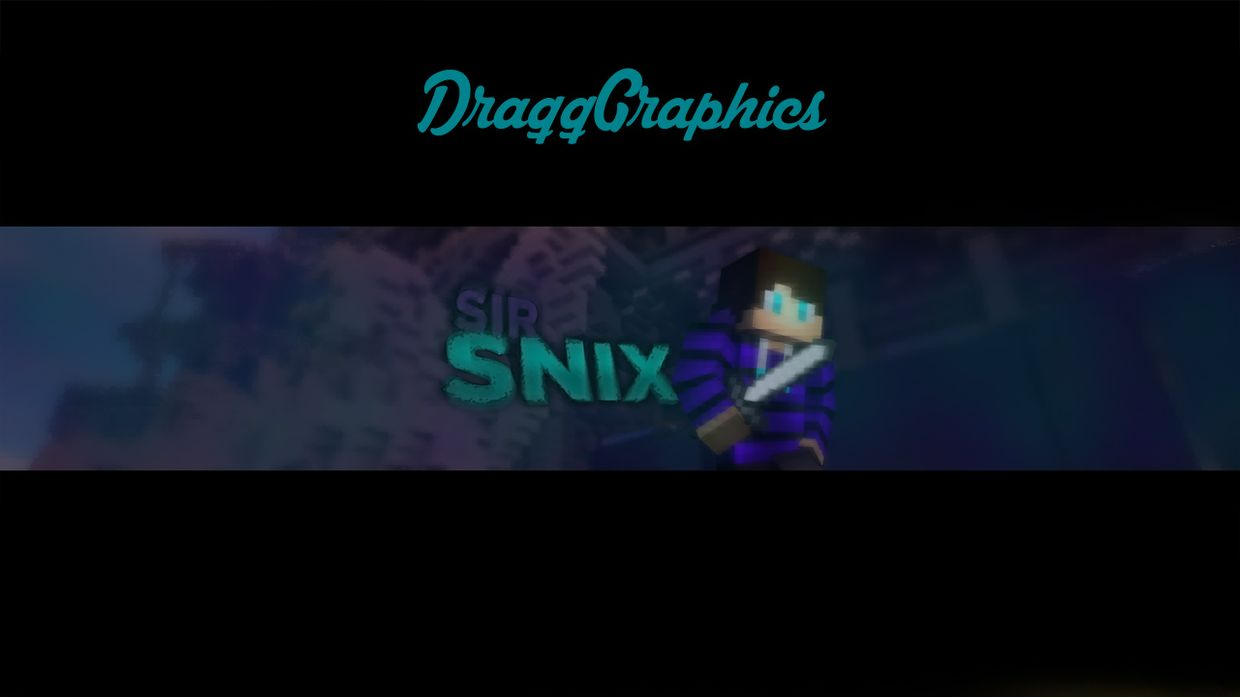 Simple Minecraft YouTube banner
