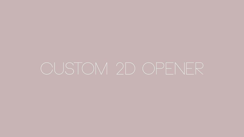 Custom 2D opener