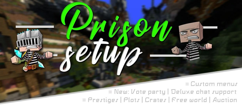 ① PRISON SETUP | 20% off | ■ Custom menus ■ | Locked/unlocked mines | Kits recharge | ...