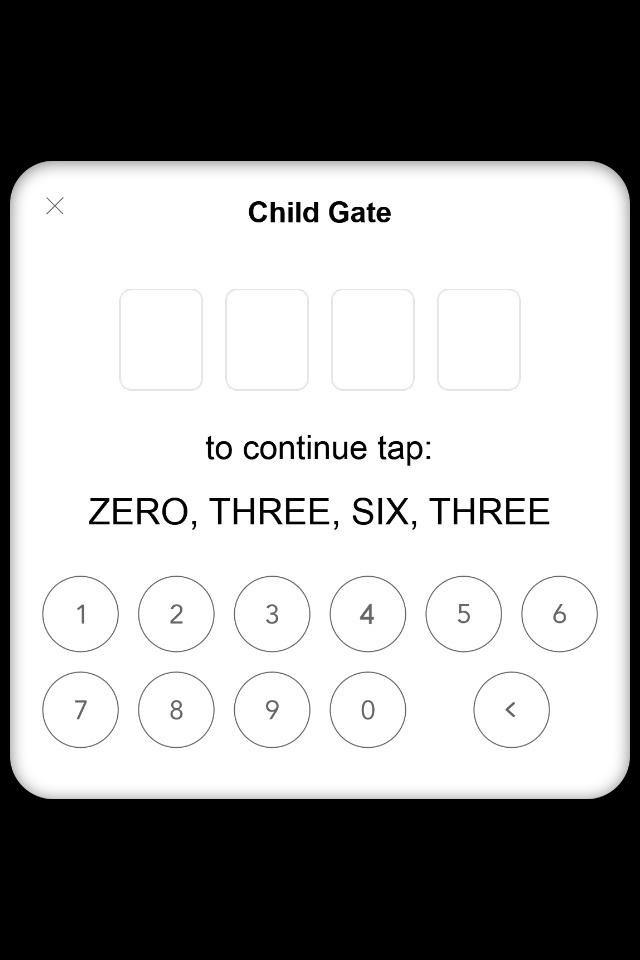 Parental Gates (Numeric) for Corona