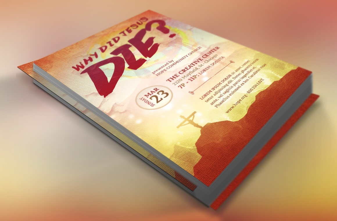 Why Jesus Died Flyer Template