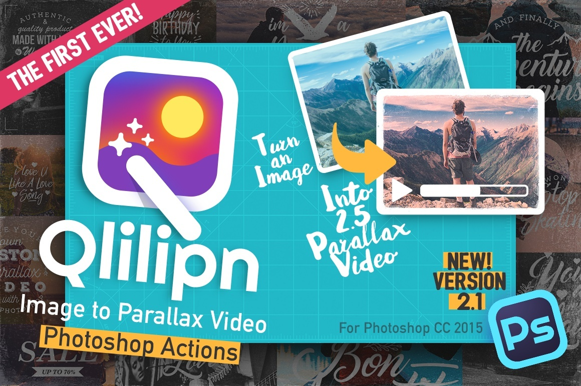 Qlilipn - Turn Image into 2.5 D Parallax Video in Photoshop [Version 2.1]