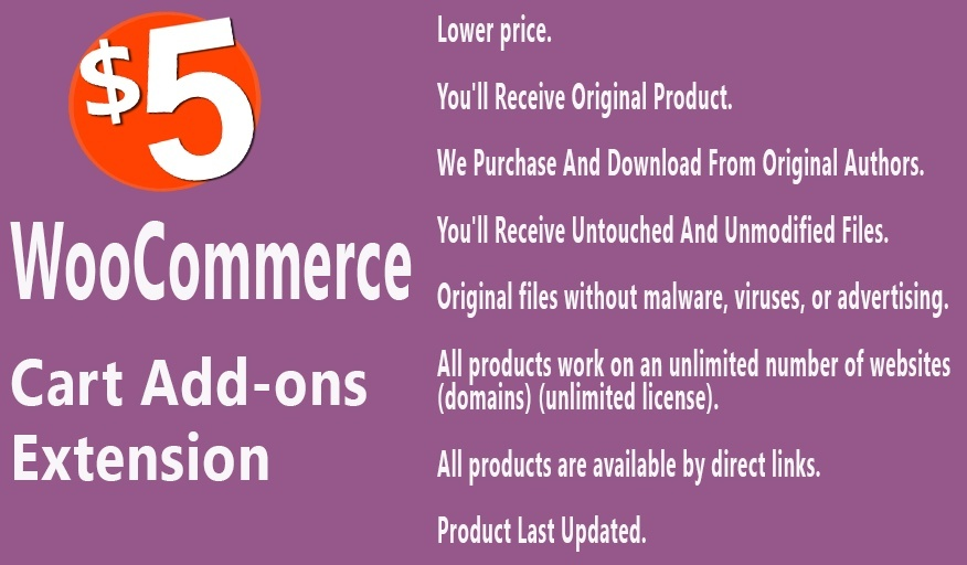 WooCommerce Cart Add-Ons Extension