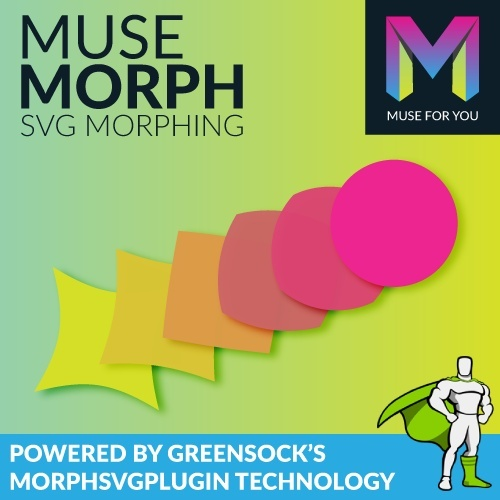 Muse Morph - SVG Morphing - Powered by Greensock's MorphSVGPlugin