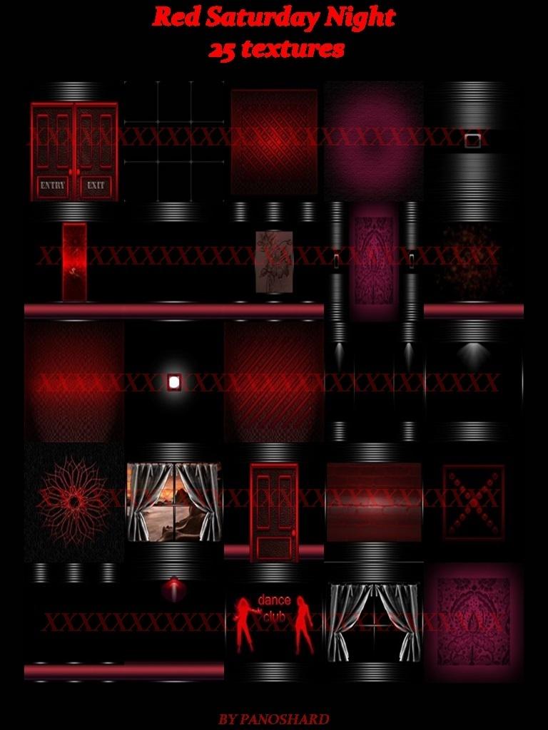 Red Saturday Night 25 Textures Imvu Panoshard2 Textures