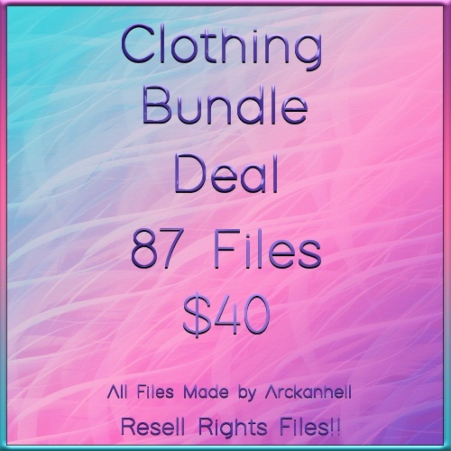 Clothing Bundle Deal A 87 Files with Resell Rights