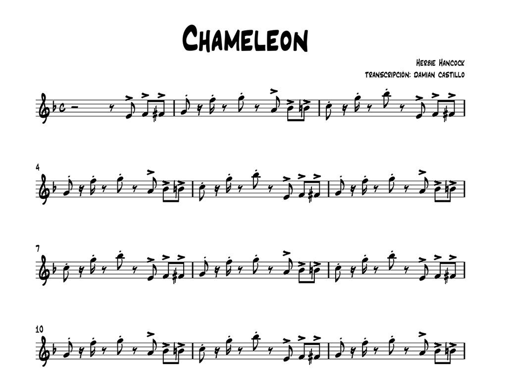 "Herbie hancock - ""Chameleon"" - Sax alto."