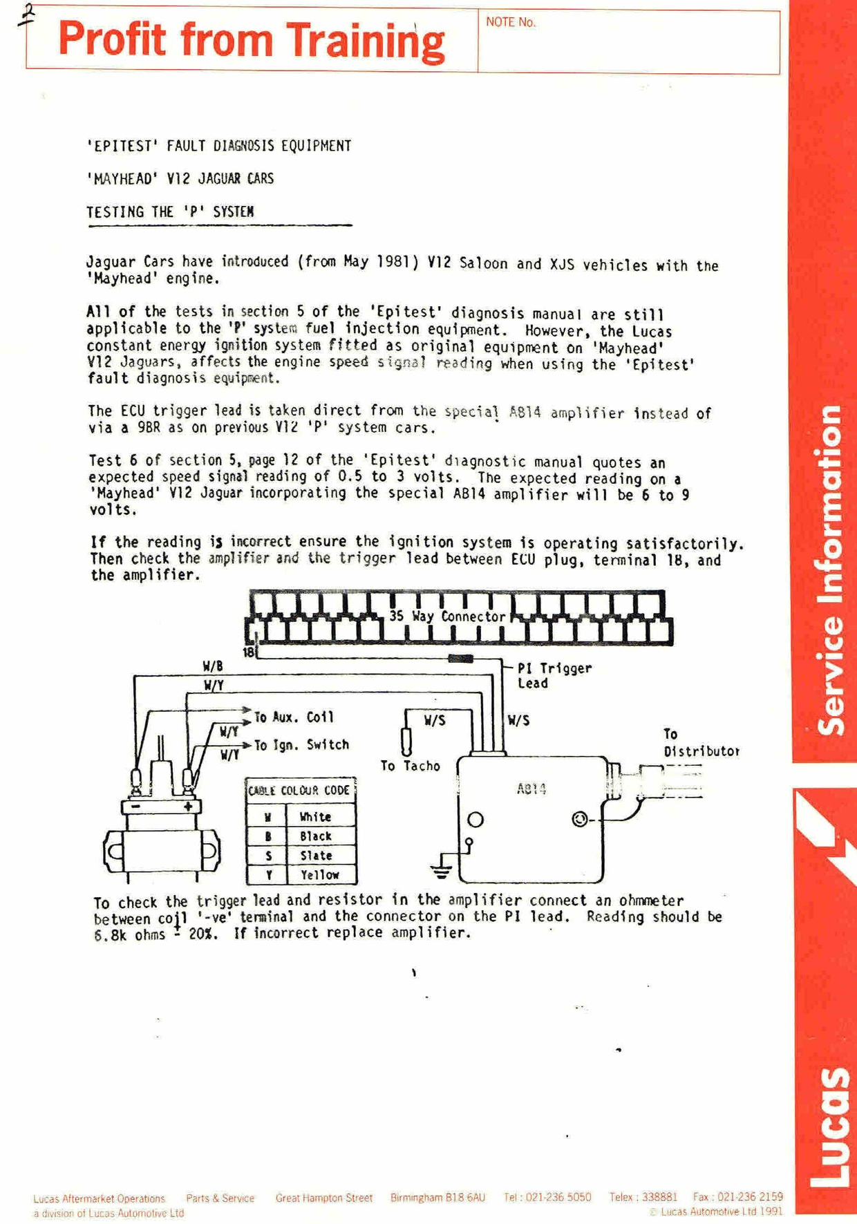 Ac5 Alternator Wiring Diagram : Lucas electronic ignition training manuals service not